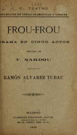Frou-frou : drama en cinco actos_cover