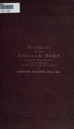 The prophecies of the Brahan seer (Coinneach Odhar Fiosaiche)_cover