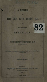A letter to the Rev. E.B. Pusey, D.D., on his recent Eirenicon_cover