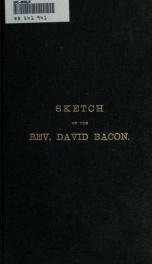Sketch of the Rev. David Bacon_cover