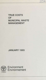 True costs of municipal waste management : report_cover