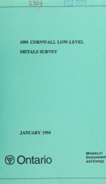 1991 Cornwall low-level metals survey_cover