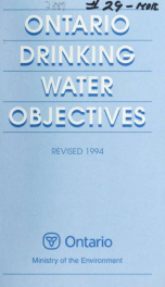 Ontario drinking water objectives_cover