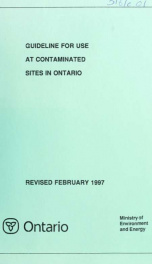 Guideline for use at contaminated sites in Ontario_cover