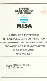 A Study of the Effects of In-place Pollutants on the Bottom Water, Sediments_cover