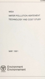 Water pollution abatement technology and cost study_cover