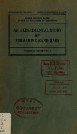 An experimental study of submarine sand bars_cover
