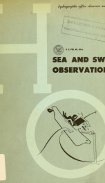 Sea and swell observations; wave characteristics, waves of the sea, how to make observations, reporting procedure_cover