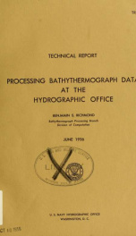 Processing bathythermograph data at the Hydrographic Office_cover