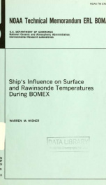 Ship's influence on surface and rawinsonde temperatures during BOMEX_cover