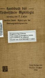 Handbuch der technischen Mykologie. Unter Mitwirkung [von] J. Behrens [et al.] hrsg. von Franz Lafar 02_cover