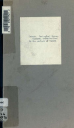 Chemical contributions to the geology of Canada. From the laboratory of the Survey_cover