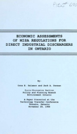 Economic assessment of MISA regulations for direct industrial dischargers in Ontario_cover