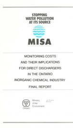 Monitoring costs and their implications for direct discharges in the Ontario inorganic chemical industry : final report_cover