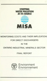 Monitoring costs and their implications for direct dischargers in the Ontario industrial minerals sector : final report_cover