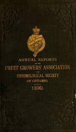 Annual report of the Fruit Growers' Association of Ontario 22nd 1890_cover