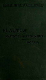 The Captives and Trinummus;_cover