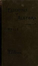Essentials of algebra for secondary schools_cover