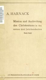 Die Mission und Ausbreitung des Christentums in den ersten drei Jahrhunderten 1_cover