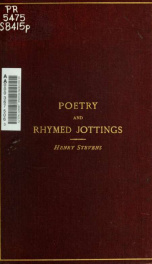 Poetry and rhymed jottings_cover