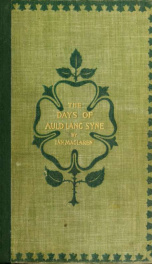 The days of auld lang syne_cover
