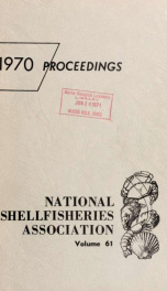 Proceedings of the National Shellfisheries Association 61_cover