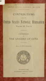 Catalogue of the grasses of Cuba_cover