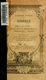 Philosophie, beaux arts et belles lettres, correspondance, mélanges. Extraits par Eugène Fallex_cover