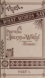 What words say : a practical analysis of words for use in elementary schools_cover