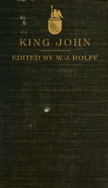 Shakespeare's History of the life and death of King John;_cover