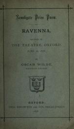 Ravenna : recited in the Theatre, Oxford, June 26, 1878_cover