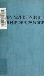 Die Büchse der Pandora : Tragödie in drei Aufzügen, neu bearbeitet und mit einem Vorwort versehen_cover