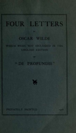 Four letters which were not included in the English edition of De profundis_cover
