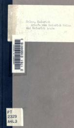 Briefe von Heinrich Heine an Heinrich Laube. Hrsg. von Eugen Wolff_cover