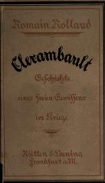 Clerambault; Geschichte eines freien Gewissens im Kriege. [Berechtigte Übertragung aus dem Französischen von Stefan Zweig]_cover