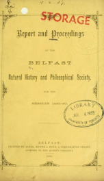 Proceedings and reports 1885-1886_cover