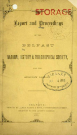 Proceedings and reports 1884-1885_cover