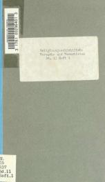 Religionsgeschichtliche Versuche und Vorarbeiten 11_cover