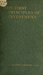 The first principles of investment : a sequel to The wheel of wealth_cover