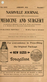 Nashville Journal of Medicine and Surgery v.108 n.01_cover