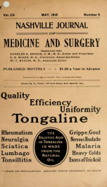 Nashville Journal of Medicine and Surgery v.110 n.05_cover