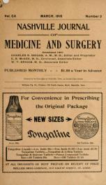 Nashville Journal of Medicine and Surgery v.110 n.03_cover