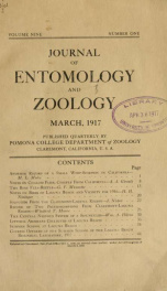 Journal of Entomology and Zoology 1917 v.09  March_cover