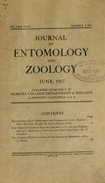 Journal of Entomology and Zoology 1917 v.09 June_cover