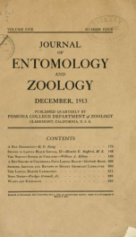 Journal of Entomology and Zoology 1913 v.05_cover
