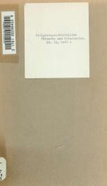 Religionsgeschichtliche Versuche und Vorarbeiten 19 pt 2_cover