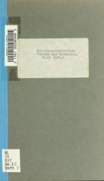 Religionsgeschichtliche Versuche und Vorarbeiten 12 pt  2_cover