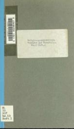 Religionsgeschichtliche Versuche und Vorarbeiten 13 pt 1_cover