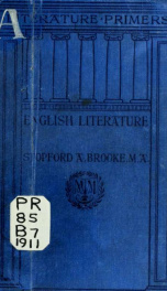English literature, from A.D. 670 to A.D. 1832_cover