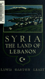 Syria, the land of Lebanon_cover